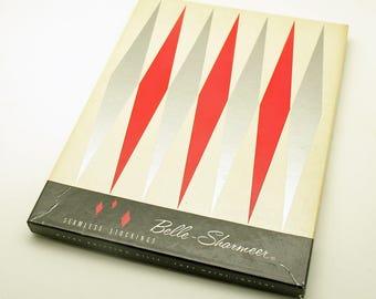 Vintage Pair Stockings Nylon Belle Sharmeer Original Box