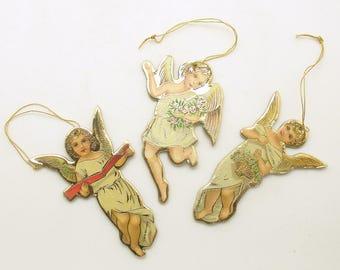 Vintage Christmas Ornaments Die Cut Angel Ornaments Christmas Decoration