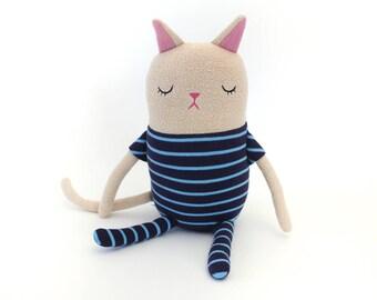 """Cat Sleepy Kitty in Pajamas """"Kurry"""" Cotton Monster Plush"""
