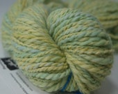 106 yards light green alpaca handspun yarn, 3 oz.