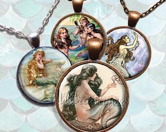 Mermaid Glass Pendant Necklace Jewelry Bundle Gift Party Favors Grab Bag Bulk Discount