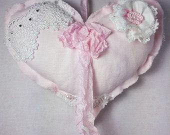 Pink Heart Sachet