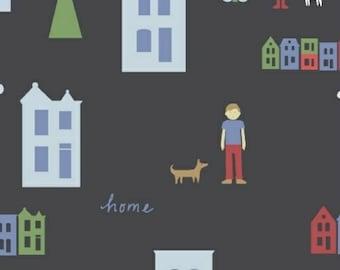 ON SALE Neighborhood by Alyson Beaton for Windham Fabrics Houses Navy