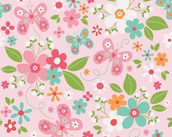 20%OFF Riley Blake Designs Garden Girl by Zoe Pearn - Main Pink