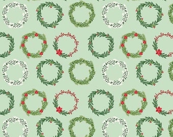 20EXTRA 20% OFF Comfort and Joy By Dani Mogstad for My Mind's Eye - Light Green Wreaths