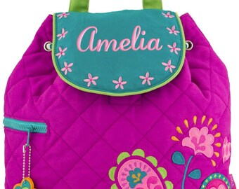 Personalized Backpack Paisley Quilted Girls Preschool Toddler Stephen Joseph