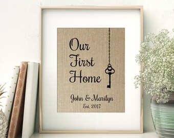 Our First Home | Housewarming Gift for Couple | Key House Warming Gift | Our First Home New Home New House | Realtor Closing Gift