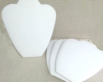 White Faux Leather Necklace Display, Easel style display, Jewelry Holder, Craft Show Display