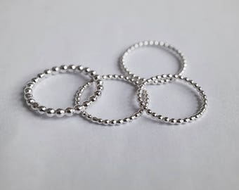 SMALL/BIG BALLS sterling silver stackable ring