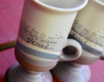 Off Down the Road Pottery Cups---Set of Two OUTLET