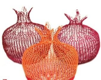On SALE 20% - Wire pomegranate pattern wire crochet tutorial wire work instructions DIY wire sculpture yoola ebook