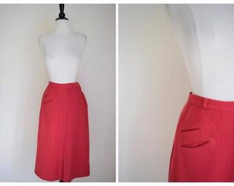 Vintage Lord & Taylor 60's Wool Skirt