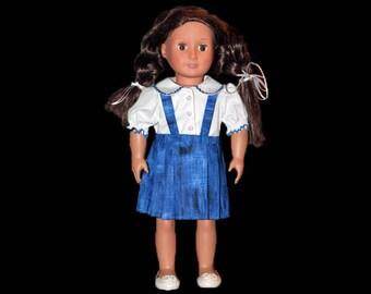 Schoolgirl box pleated skirt & blouse