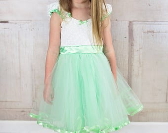 mint green  dress, flower girl dress, mint flower girl, vintage flower girl dress, Victorian dress, tutu dress, flower girl dress tutu SALE