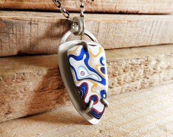Fordite jewelry, Detroit Agate necklace, fordite necklace, christmas gift, sterling silver statement necklace, gemstone jewelry