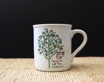 Vintage 1980s Koala mug. Hang on until the weekend.