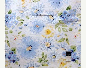 ON SALE Dena Designs LIDF007 Sunshine Gardenia White Linen Fabric 1 Yd