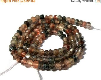 50% Off Sale 14 Inches Genuine AAA Andalusite Micro Faceted Rondelles Size 3.5 - 4mm Approx