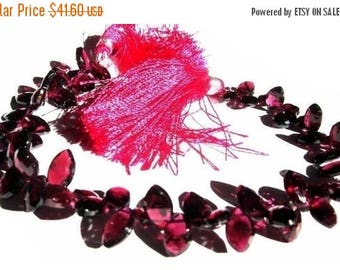 50% Off Sale 1/2 Strand - Garnet Faceted Marquise Briolettes Size 6x9 -6x10mm approx