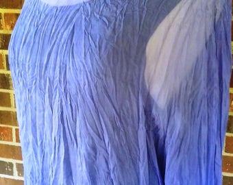 Hand Dyed Lavender Silk Chiffon Blouse