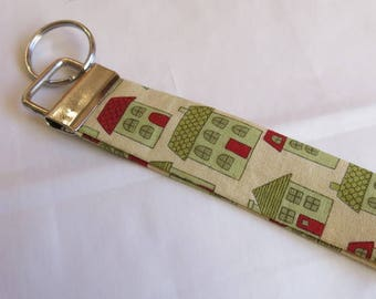 Key fob house print - stocking filler - cracker present - Secret Santa