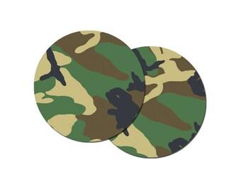 "Camo Camouflage Drink Coaster Set - Drink Coasters 3.5"""