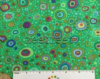 Kaffe Fassett ROMAN GLASS Emerald Green Gp01 Quilt Fabric - by the Yard, Half Yard, or Fat Quarter FQ