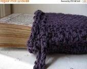 Summer Solstice Sale Purple tarot bag / knitted tarot pouch / drawstring tarot bag / royal purple / tarot card holder / oracle deck bag / ri