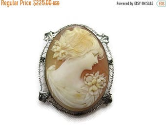 OnSale Antique 14k White Gold Cameo - Fine Jewelry