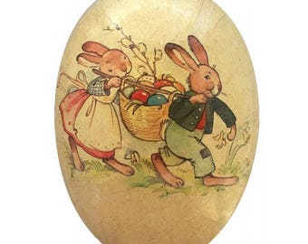 Germany Papier Paper Mache Easter Egg Box  3.5 Inch  520P