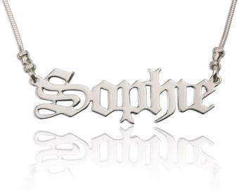 Personalized Name Necklace - Custom Made Any Name Necklace of Your Choice - 925 Sterling Silver