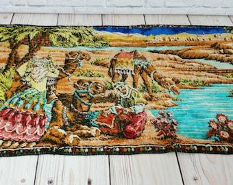 Vintage Velvet Camels in Desert Wall Tapestry