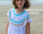 Download Now - CROCHET PATTERN Floaty Dress - Sizes 6-12 mos up to Ladies X L - Pattern PDF
