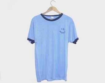 1980s t shirt / vintage 80s tshirt / large l / FBI Academy T-Shirt