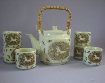 Ceramic Teapot, Pottery Teapot, Vintage Teapot, Gift For Her, Gift For Him, Wedding Gift, Vintage Kitchen