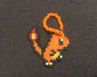 Pokémon CHARMANDER Perler Bead melty Kandi Bracelet