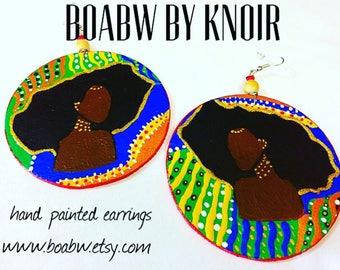 Regal Afro Melanin Empress Earrings
