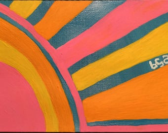 Sunburst Hand Painted Notecard
