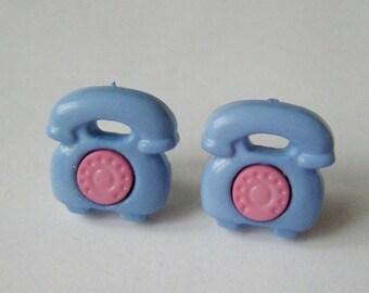 Earrings phones blue ♥ ♥