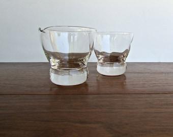 Eva Zeisel Federal Prestige, Optic Sugar & Creamer Jug w/ Doorknob Base, Iconic Mid Century Modern Design
