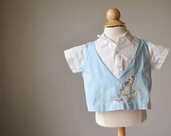 ON SALE 1950s Top Duck Shirt~Size 6 Months