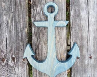 anchor,nautical decor,wood anchor,beach decor,nautical nursery,nautical,anchor wall art,wall decor,beach house decor,anchor decor,wall art