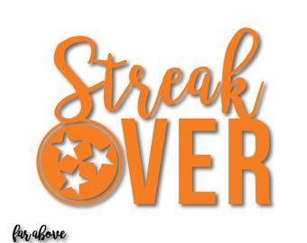 Streak Over Tristar Rocky Top TN - Tennessee SVG, EPS, dxf, png, jpg digital cut file for Silhouette or Cricut