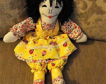 Lady Bug RAG DOLL-(Order by Request to Make Similar Rag Doll)