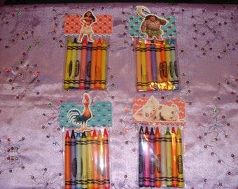 Moana Made To Order Crayon Favor Bags