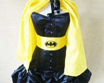 SUMMER SALE Batgirl Yellow Waist Mid Length Cloak-One Size Fits All