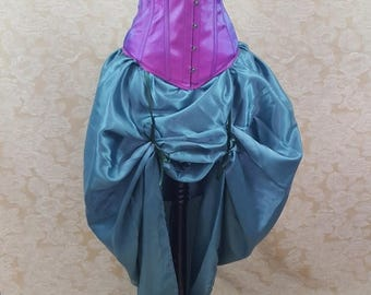 SALE Sea Green Full Length Bustle Skirt-One Size Fits All