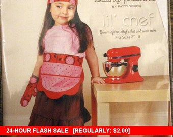 Flash SALE!!! Modkid Sewing Pattern by Patty Young  - Lil' Chef - Sizes 2T-8