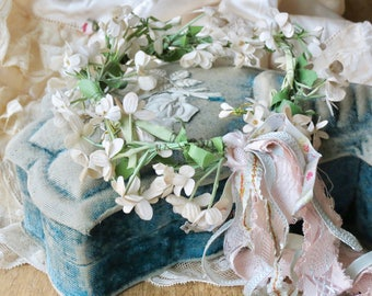 Vintage Shabby Chic Lovely Millinery Crown