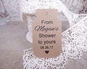 From Shower To Yours Mason Jar Bridal Shower Tags Personalized Wedding Tags Shower Favor Tags Weddin Gift Tags